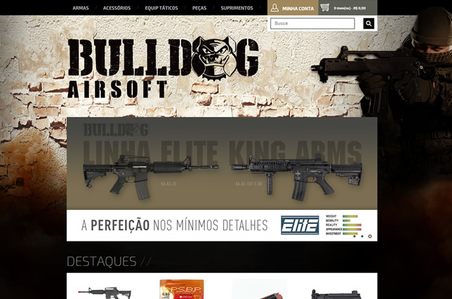 Visual loja virtual Bulldog airsoft
